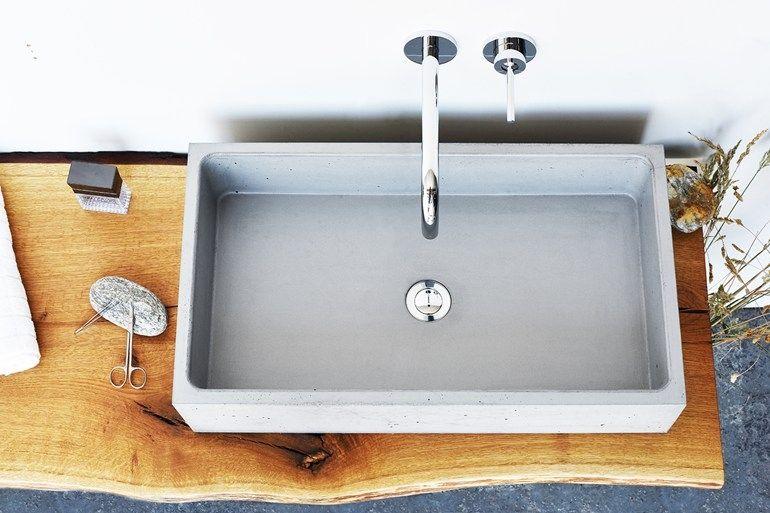 lavabo in cemento alleggerito BOX e BOX MINI