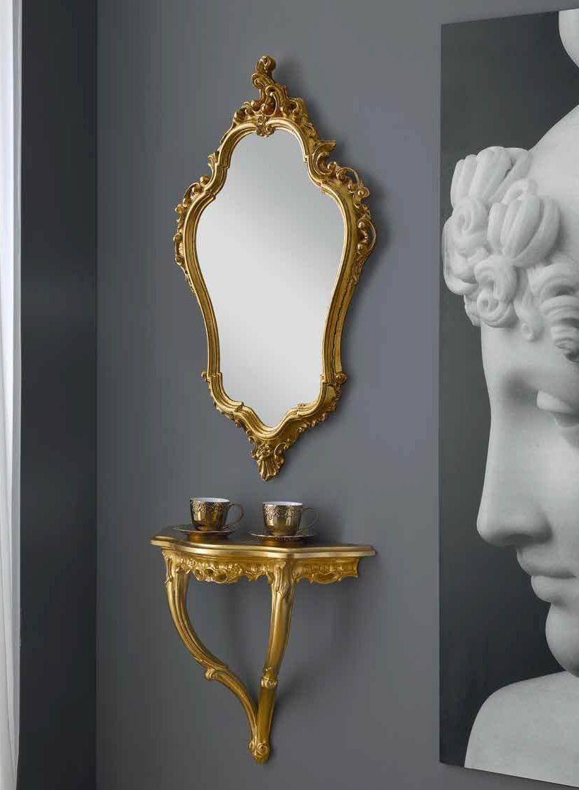 Consolle Classiche Sospese.Consolle Sospesa Con Specchio Intarsiata