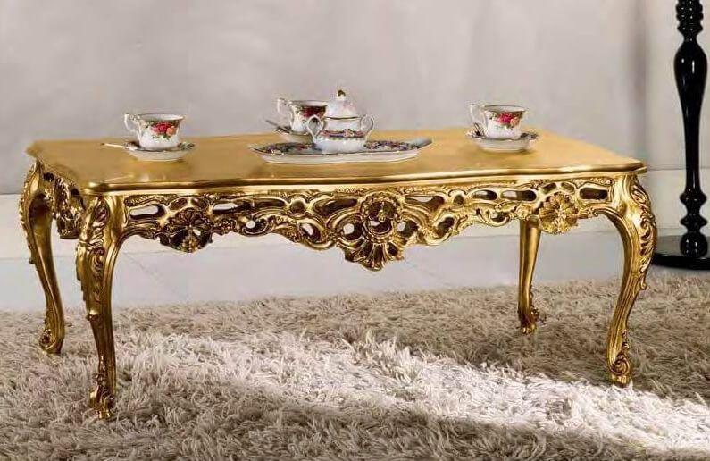 In Stile Classico Tavolini Da Salotto Classici In Foglia Oro.Tavolino Da Salotto Barocco