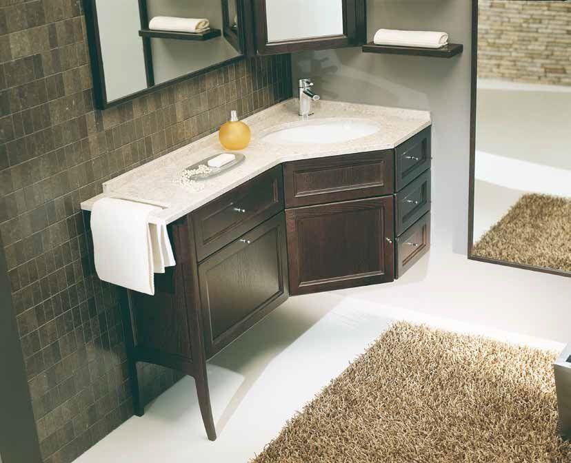 Mobile bagno con lavabo angolare