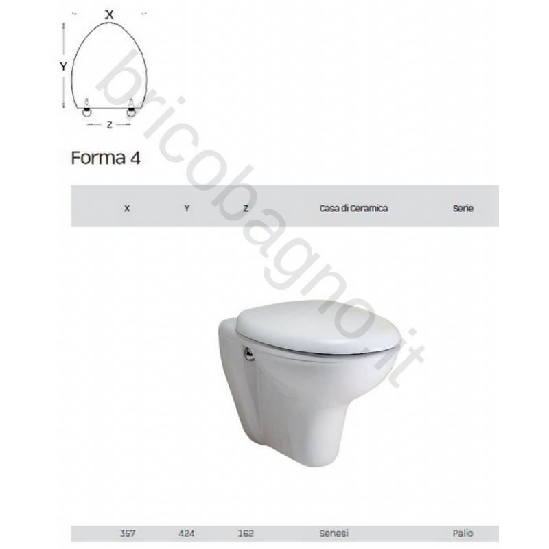 Sanitari Ceramiche Senesi.Sedile Wc Ceramica Senesi