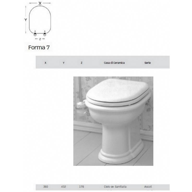 Ceramica Cielo Serie Windsor.Copriwater Per Sanitari Cielo Ceramica